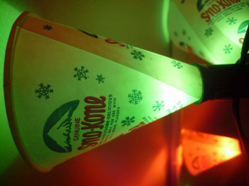 Turns out funnels provide endless options for food, lights, and general fun.